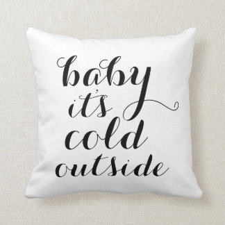Pillow | Baby It's Cold Outside - white