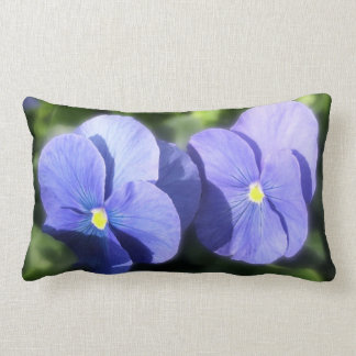 Pillow - Blue Pansy Sisters Throw Cushions