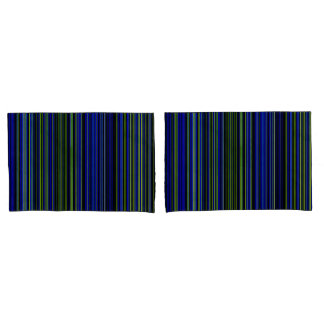 pillow cases Retro stripe lime green blue