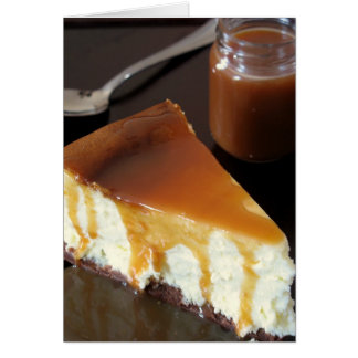 Pillow Cheesecake and Salted Butter Caramel Sauce Card