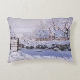 Pillow Claude Monet The Magpie Winter Snow Bird