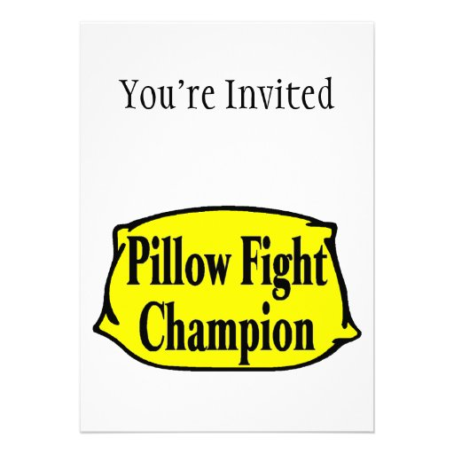Pillow Fight Champion Personalized Announcements