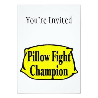 Pillow Fight Champion 5x7 Paper Invitation Card