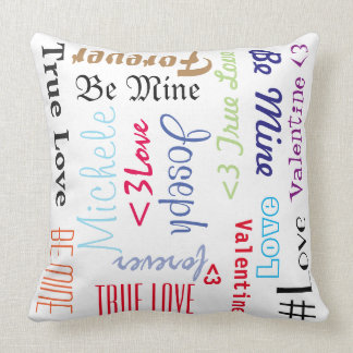 Pillow Forever Love Be Mine Valentine Personalised