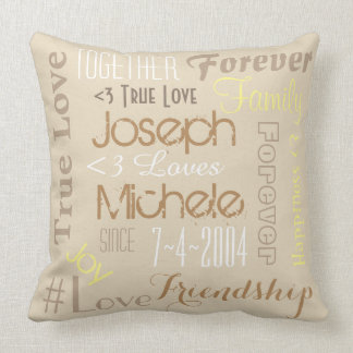 Pillow Forever Love Personalised Names and Date