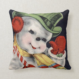 Pillow Hats off to you, Vintage Holiday Snowman