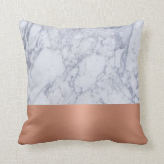 Pillow in Black and White Marble and Copper