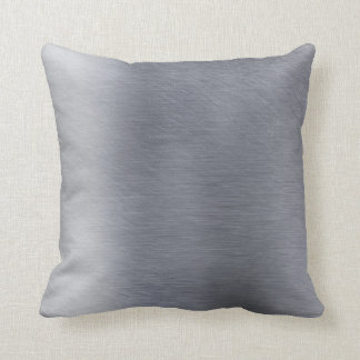 Pillow in Brushed Metal Look