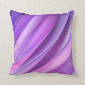 Pillow in modern purple abstract style