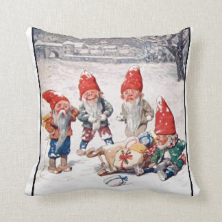 Pillow, Laughing Elves, Gifts, and Snow Cushion