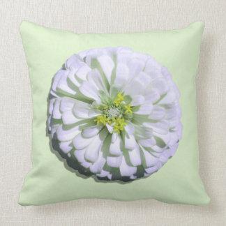 Pillow - Lemony White Zinnia