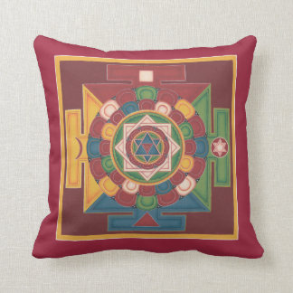 PILLOW-Mandala of the 5 Earth Elements for healing Throw Pillow