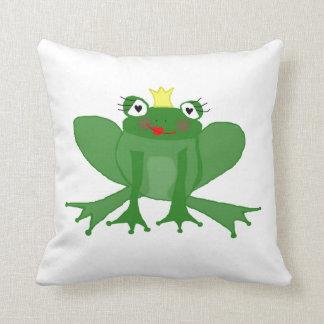 pillow Miss Princess Frog cushion