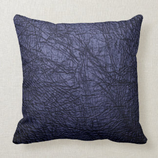 Pillow navy blue leather look