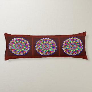 Pillow OIL Paint Texture Flower Chakra Wheel Round