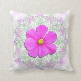 Pillow - Personalized - Dark Pink Cosmos Lace Latt