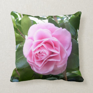 Pillow - Rose Pink Camellia Throw Cushions