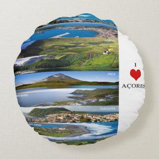 Pillow/round Cushion 40cm - I Love Açores Round Cushion