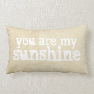 pillow shabby chic you are my sunshine quote