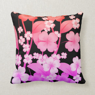 pillow shaped with flowers-Pink and purple