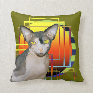 Pillow | Sphynx Cat Ninja Transparent Background