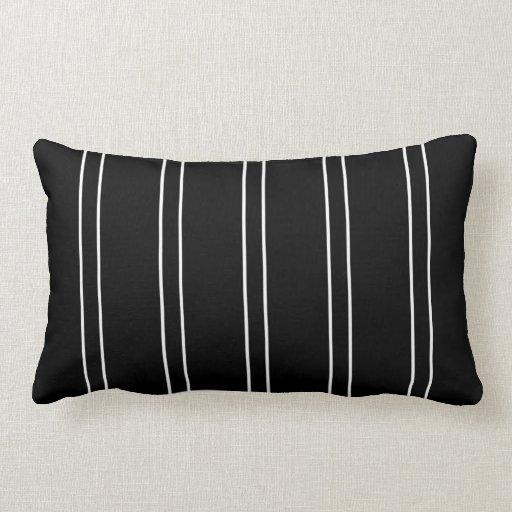 Pillow Stripe Black White Cushion Pillows