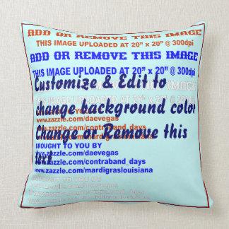 """Pillow Throw Cotton 20"""" x 20"""" 2 Sides w/text"""