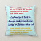 """Pillow Throw Polyester 16"""" x 16"""" 2 Sides"""