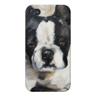 """Pillow Time"" Boston Terrier Dog Lover Gift Cover For iPhone 4"