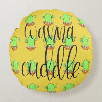 Pillow- Wanna Cuddle Round Cushion