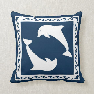 Pillow with dolphins