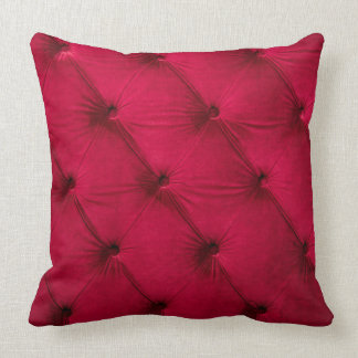 Pillow with Purple burgundy color capitone