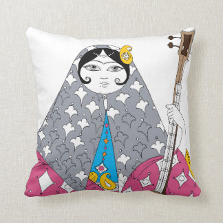 Pillow with Shahrzad Figure by Graphita