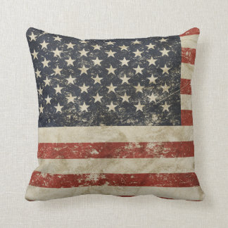 Pillow with vintage US flag