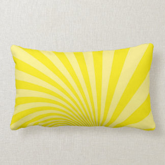 pillow with yellow lines