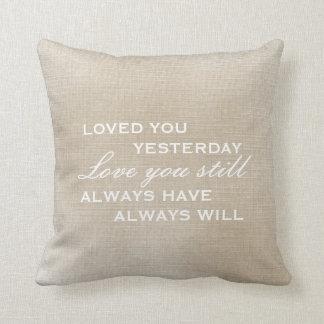 Pillow   Worn Vintage Look - Love you still Throw Cushion