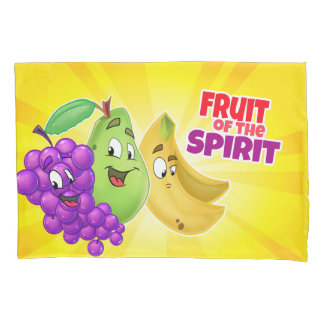 Pillowcase with fruit of the spirit cartoon