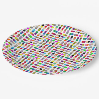 Pills 9 Inch Paper Plate