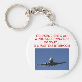 PILOT airline joke Basic Round Button Key Ring