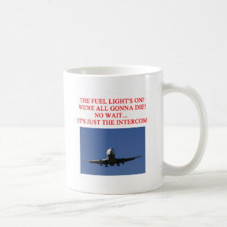 PILOT airline joke Basic White Mug