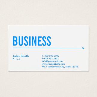 Pilot Aviator Modern Blue Arrow Business Card