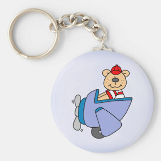 Pilot Bear Key Ring