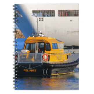 Pilot boat and cruise ship notebook
