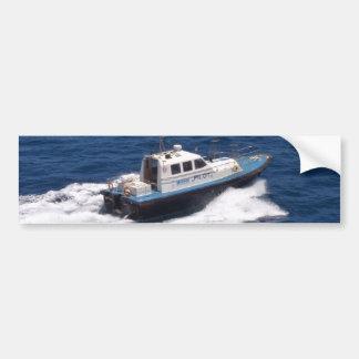 Pilot Boat At Speed Bumper Sticker