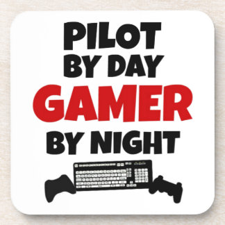 Pilot by Day Gamer by Night Coaster