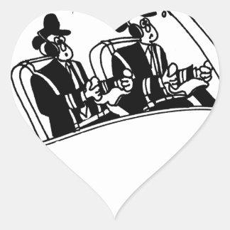 Pilot Cartoon 3683 Heart Sticker