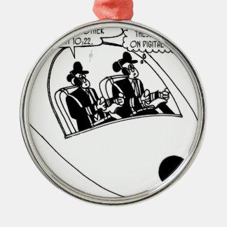 Pilot Cartoon 3683 Metal Ornament