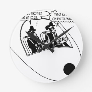 Pilot Cartoon 3683 Round Clock