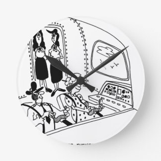 Pilot Cartoon 5139 Round Clock