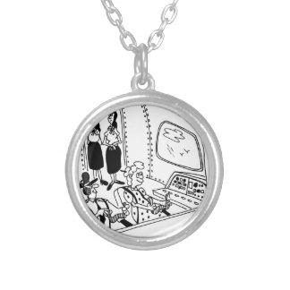 Pilot Cartoon 5139 Silver Plated Necklace